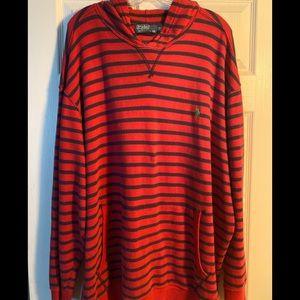Men's Size 3XB Polo Striped Hoodie